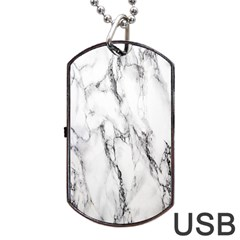 Marble Granite Pattern And Texture Dog Tag Usb Flash (two Sides) by Nexatart