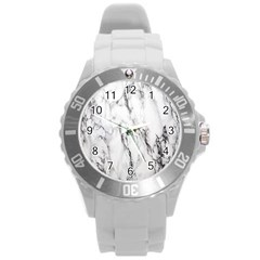 Marble Granite Pattern And Texture Round Plastic Sport Watch (l)