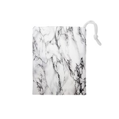 Marble Granite Pattern And Texture Drawstring Pouches (small)