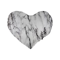 Marble Granite Pattern And Texture Standard 16  Premium Flano Heart Shape Cushions