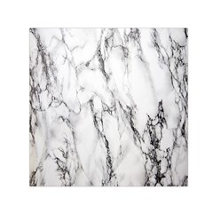 Marble Granite Pattern And Texture Small Satin Scarf (square)
