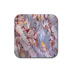 Marble Pattern Rubber Square Coaster (4 Pack)  by Nexatart