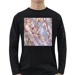 Marble Pattern Long Sleeve Dark T Shirts