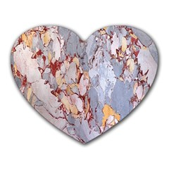 Marble Pattern Heart Mousepads