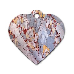 Marble Pattern Dog Tag Heart (one Side)