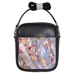Marble Pattern Girls Sling Bags