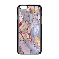 Marble Pattern Apple Iphone 6/6s Black Enamel Case by Nexatart