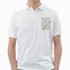 Marble Texture White Pattern Surface Effect Golf Shirts