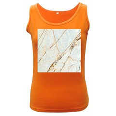 Marble Texture White Pattern Surface Effect Women s Dark Tank Top