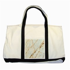 Marble Texture White Pattern Surface Effect Two Tone Tote Bag