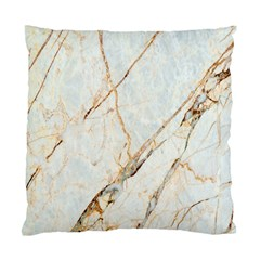 Marble Texture White Pattern Surface Effect Standard Cushion Case (two Sides)
