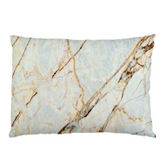 Marble Texture White Pattern Surface Effect Pillow Case by Nexatart