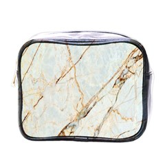 Marble Texture White Pattern Surface Effect Mini Toiletries Bags