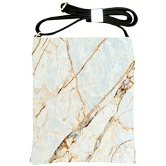 Marble Texture White Pattern Surface Effect Shoulder Sling Bags by Nexatart