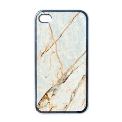 Marble Texture White Pattern Surface Effect Apple Iphone 4 Case (black) by Nexatart