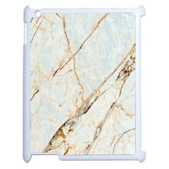 Marble Texture White Pattern Surface Effect Apple Ipad 2 Case (white) by Nexatart