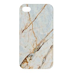 Marble Texture White Pattern Surface Effect Apple Iphone 4/4s Premium Hardshell Case by Nexatart