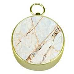 Marble Texture White Pattern Surface Effect Gold Compasses