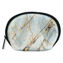 Marble Texture White Pattern Surface Effect Accessory Pouches (medium)