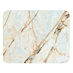 Marble Texture White Pattern Surface Effect Double Sided Flano Blanket (large)  by Nexatart