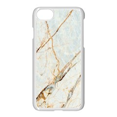 Marble Texture White Pattern Surface Effect Apple Iphone 7 Seamless Case (white)