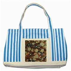 Marbling Striped Blue Tote Bag