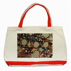 Marbling Classic Tote Bag (red)