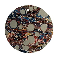 Marbling Round Ornament (two Sides)