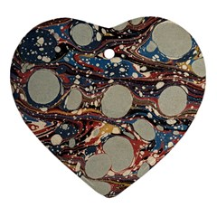 Marbling Heart Ornament (two Sides)