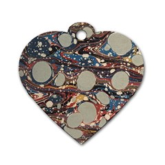 Marbling Dog Tag Heart (one Side)