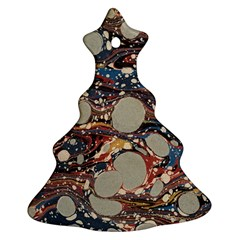 Marbling Christmas Tree Ornament (two Sides) by Nexatart