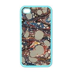 Marbling Apple Iphone 4 Case (color) by Nexatart