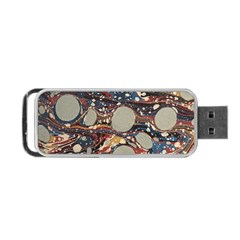 Marbling Portable Usb Flash (two Sides) by Nexatart