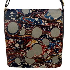 Marbling Flap Messenger Bag (s)
