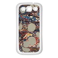 Marbling Samsung Galaxy S3 Back Case (white) by Nexatart