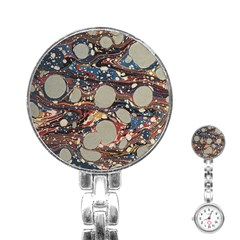 Marbling Stainless Steel Nurses Watch
