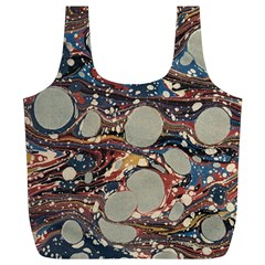 Marbling Full Print Recycle Bags (l)  by Nexatart