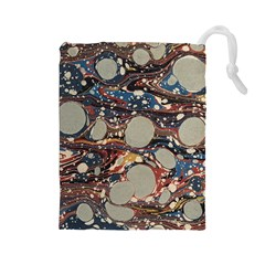 Marbling Drawstring Pouches (large)  by Nexatart