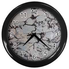 Slate Marble Texture Wall Clocks (black)