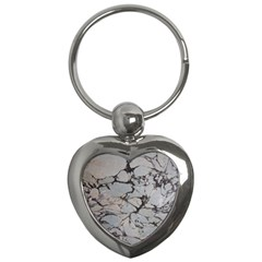 Slate Marble Texture Key Chains (heart)