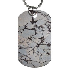 Slate Marble Texture Dog Tag (one Side)