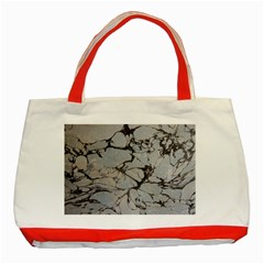 Slate Marble Texture Classic Tote Bag (red) by Nexatart