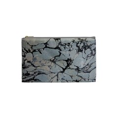 Slate Marble Texture Cosmetic Bag (small)  by Nexatart