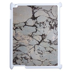 Slate Marble Texture Apple Ipad 2 Case (white) by Nexatart