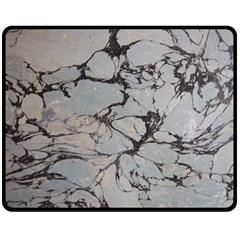 Slate Marble Texture Double Sided Fleece Blanket (medium)