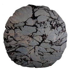 Slate Marble Texture Large 18  Premium Flano Round Cushions by Nexatart