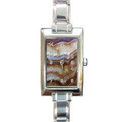 Wall Marble Pattern Texture Rectangle Italian Charm Watch