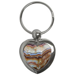 Wall Marble Pattern Texture Key Chains (heart)