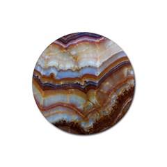 Wall Marble Pattern Texture Rubber Round Coaster (4 Pack)  by Nexatart