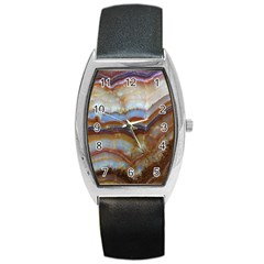 Wall Marble Pattern Texture Barrel Style Metal Watch by Nexatart